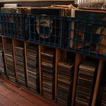 plenty of records and cds you could look at if you got bored!