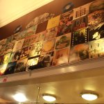 record sleeves on the wall!