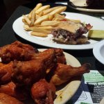 Burger, fries, and wings - OH BOY!!!