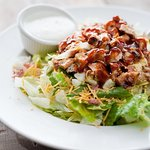 BBQ chicken salad with ranch dressing.