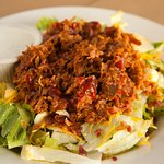 Pulled pork salad.