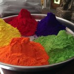 Holi Colors at the front desk