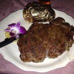 Rib-Eye Steak, yes it's that big for a petite.