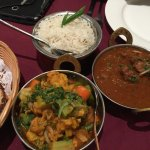 Basmati Rice, Naan Bread, Lamb Rogan Josh & Mixed Vegetable Curry