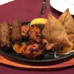 Chicken Tikka, Seekh Kebabs & Vegetable Samosas