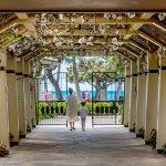 Aston Waikiki Beach Tower Walk Way People