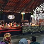Gamelan being played while waiting for the show to start