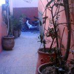 Outside the front door of Riad!