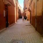 The 'derb' leading from the Riad!