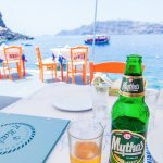 enjoy a cold beer while looking out to the water