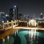 Zenith Sukhumvit Hotel, BamgkokPool area at night time