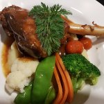 Mine was a slow coocked leg of lamb with fresh veg and mash. It melted in your mouth