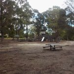 Playground with picnic table and chairs
