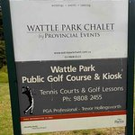 Sign for Chalet and Golf Course