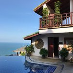 Sandalwood Luxury Villas. Views of our room and from our room.