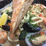 Seafood linguini- superb !