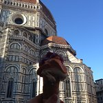 The best ice cream in Florence, in a Home made cone
