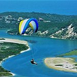 Paragliding is just in front of the guesthouse at cloud 9. This is Swartvlei(Lake)