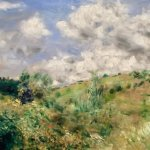 """Renoir's """"A Gust of Wind"""". One of the many great paintings at the Fitzwilliam Museum."""