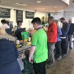 Very busy service has improved