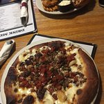 Brewhouse Pizza (and Grilled Chicken Sandwich with Waffle Fries)
