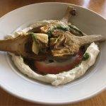 Grilled artichoke appetizer
