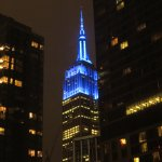 Nighttime view of Empire State Building