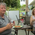Steve & Judy...pizza dinner in our court-yard...enjoying FL weather