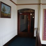 The security door leading to the rooms