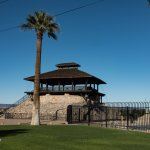 Historic structure that offers scenic views of the Colorado River.