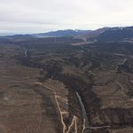 View from the balloon! Rio Grande Gorge!