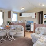 Lounge/kitchen Tennyson static caravan