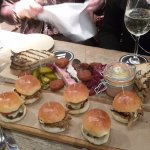 Meat plank and slider plank....with excellent chips of course