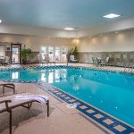 Relax in our heated indoor pool no matter what the weather!