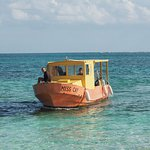 Our pickup on Sandy Cay