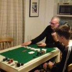 Poker game won at arcade