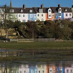 Alnmouth painted houses