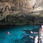 Dos Ojos Cavern snorkeling area