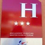 Hôtel 3 étoiles depuis février 2016 !!!