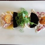 Scallops and crab meat starter