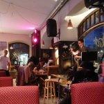 Live saxophonist in Art Cafe, Tallinn
