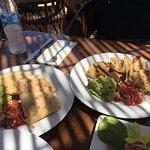 Chicken and Shrimp Quesdilla's