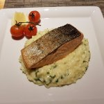 Salmon with risotto - great.