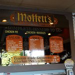 Moffett's Chicken Pie Shoppe Menu