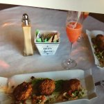 Great food.  Enjoy one of their famous strawberry mamosas.  Great patio dining    Open for lunch