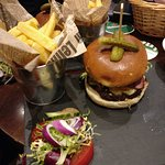 Cheese and bacon burger