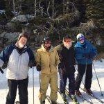 Four veteran skiiers