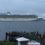 Cruise Ship passing in front of SeaWatch B&B