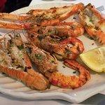Grilled shrimp - simple but excellent.