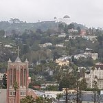 Griffith Park & Observatory from the roof deck area.